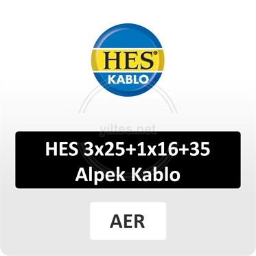 HES 3x25+1x16+35 Alpek Kablo