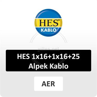 HES 1x16+1x16+25 Alpek Kablo