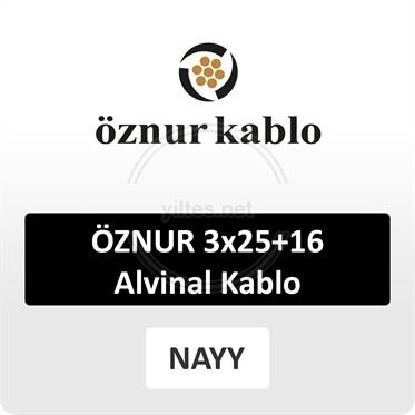 ÖZNUR 3x25+16 Alvinal Kablo