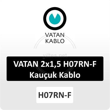 VATAN 2x1,5 H07RN-F Kauçuk Kablo