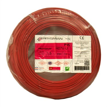 PRYSMIAN 1,5 NYA Kablo - Kırmızı 100 Metre