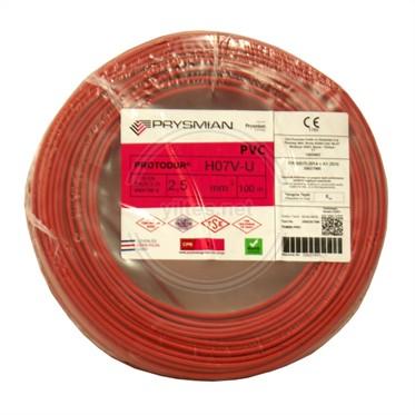 PRYSMIAN 2,5 NYA Kablo - Kırmızı 100 Metre