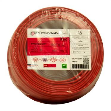 PRYSMIAN 6 NYA Kablo - Kırmızı 100 Metre