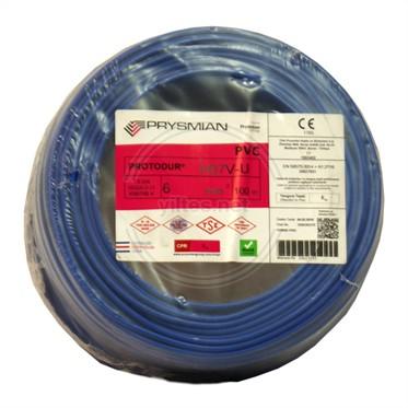PRYSMIAN 6 NYA Kablo - Mavi 100 Metre