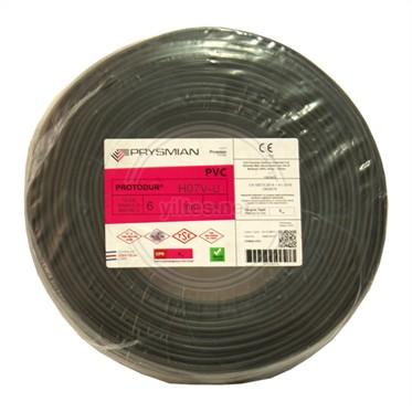 PRYSMIAN 6 NYA Kablo - Siyah 100 Metre