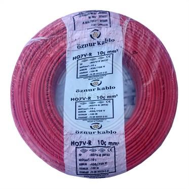 ÖZNUR 10 NYA Kablo - Kırmızı 100 Metre