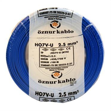 ÖZNUR 2,5 NYA Kablo - Mavi 100 Metre