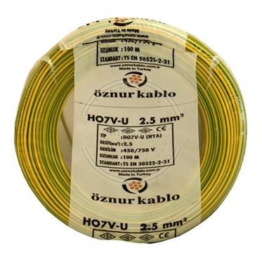 ÖZNUR 2,5 NYA Kablo - S/Y 100 Metre