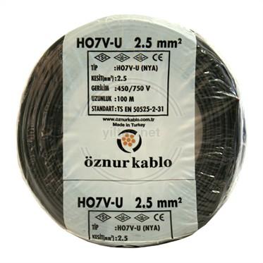 ÖZNUR 2,5 NYA Kablo - Siyah 100 Metre