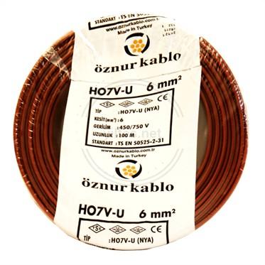 ÖZNUR 6 NYA Kablo - Kahverengi 100 Metre