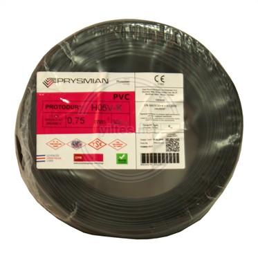PRYSMIAN 0,75 NYAF Kablo - Siyah 300 Metre