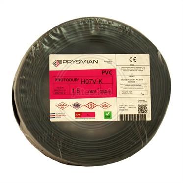 PRYSMIAN 1,5 NYAF Kablo - Siyah 200 Metre