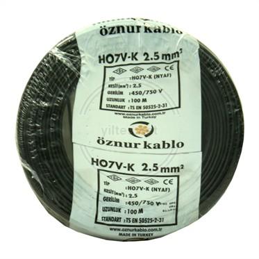 ÖZNUR 2,5 NYAF Kablo - Siyah 100 Metre