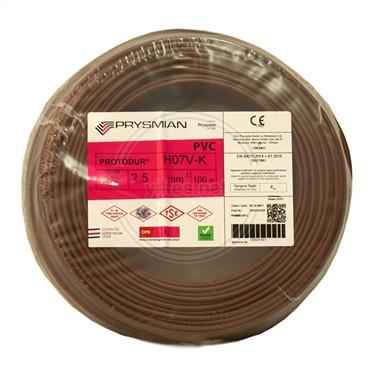 PRYSMIAN 2,5 NYAF Kablo - Kahverengi 100 Metre