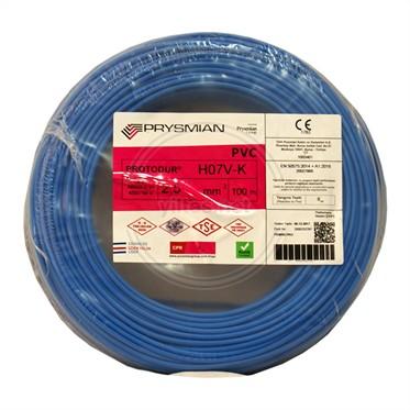 PRYSMIAN 2,5 NYAF Kablo - Mavi 100 Metre