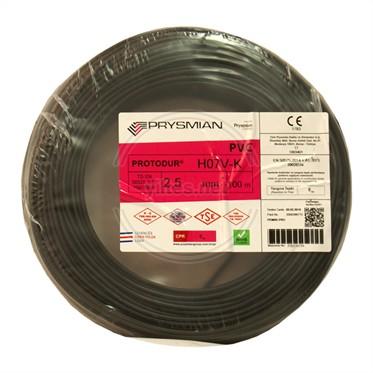 PRYSMIAN 2,5 NYAF Kablo - Siyah 100 Metre