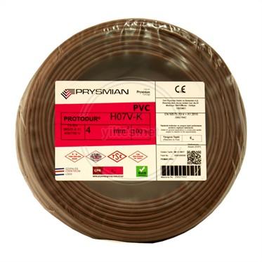 PRYSMIAN 4 NYAF Kablo - Kahverengi 100 Metre