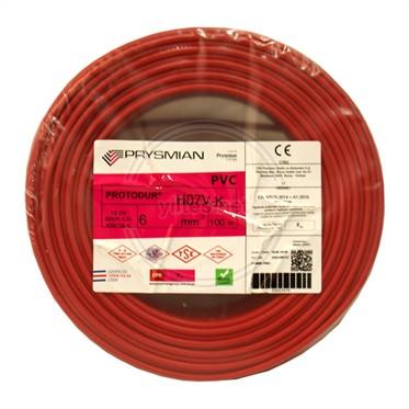 PRYSMIAN 6 NYAF Kablo - Kırmızı 100 Metre