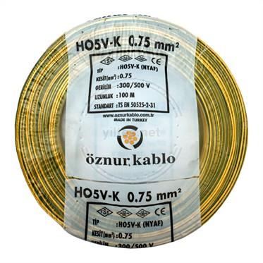 ÖZNUR 0,75 NYAF Kablo - S/Y 100 Metre