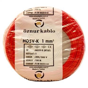 ÖZNUR 1 NYAF Kablo - Kırmızı 100 Metre
