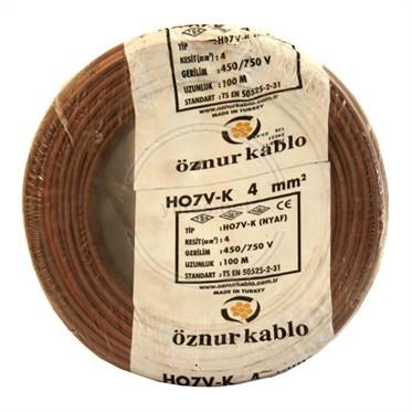 ÖZNUR 4 NYAF Kablo - Kahverengi 100 Metre