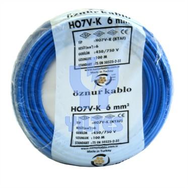 ÖZNUR 6 NYAF Kablo - Mavi 100 Metre