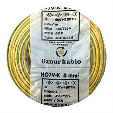 ÖZNUR 6 NYAF Kablo - S/Y 100 Metre