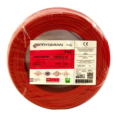 PRYSMIAN 1 NYAF Kablo - Kırmızı 300 Metre