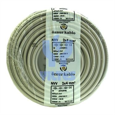 ÖZNUR 2x4 NYM (Antigron) Kablo - 100 Metre