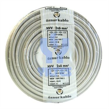 ÖZNUR 2x6 NYM (Antigron) Kablo - 100 Metre