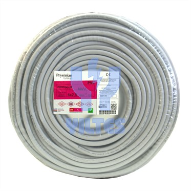 PRYSMIAN 4x2,5 NYM (Antigron) Kablo - 100 Metre
