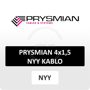 PRYSMIAN 4x1,5 NYY (yeraltı) Kablo