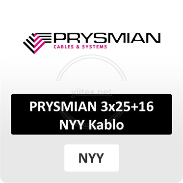 PRYSMIAN 3x25+16 NYY (yeraltı) Kablo