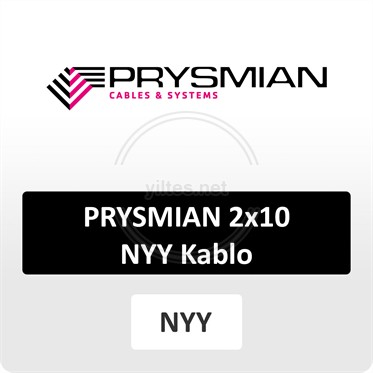PRYSMIAN 2x10 NYY (yeraltı) Kablo