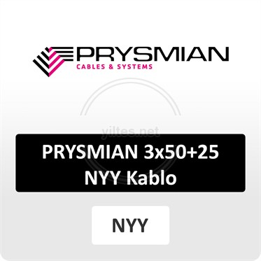 PRYSMIAN 3x50+25 NYY (yeraltı) Kablo