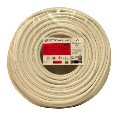 PRYSMIAN 4x2,5 TTR Kablo - Beyaz 100 Metre