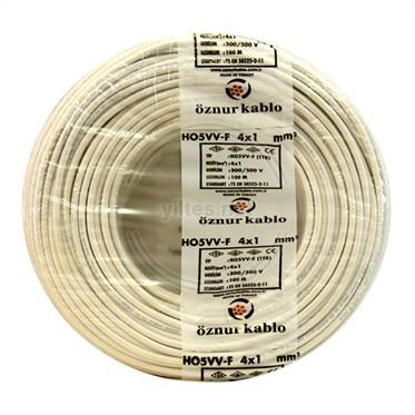 ÖZNUR 4x1 TTR Kablo - Beyaz 100 Metre