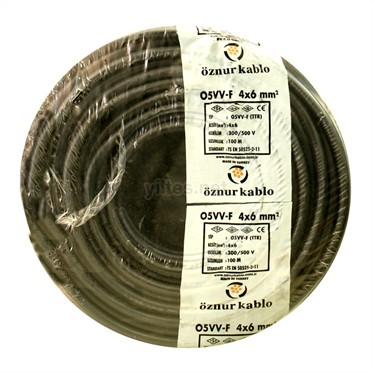 ÖZNUR 4x6 TTR Kablo - Siyah 100 Metre