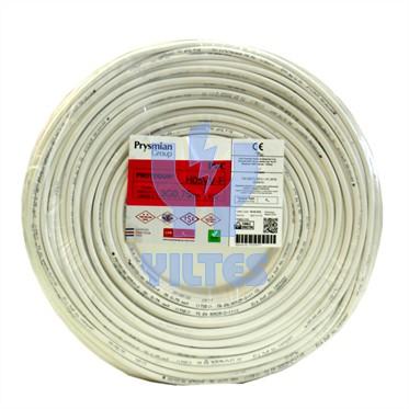 PRYSMIAN 3x0,75 TTR Kablo - Beyaz 100 Metre