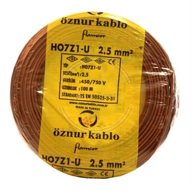 ÖZNUR 2,5 H07Z1-U Kablo - Kahverengi 100 Metre