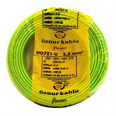 ÖZNUR 2,5 H07Z1-U Kablo - S/Y 100 Metre