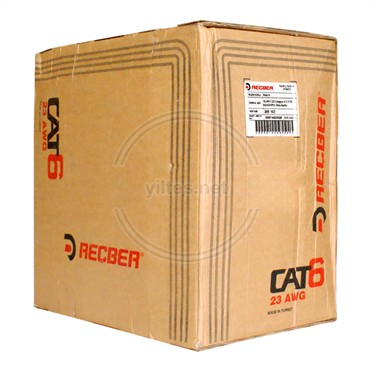 REÇBER Cat6 Kablo - SL400 U23 Category 6 U/UTP 4x2x23AWG - 305 Metre