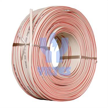 REÇBER 2x0,75 mm² Yassı Kordon Kablo - Kırmızı Kodlu Beyaz 100 Metre