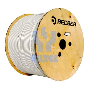 REÇBER RG6 U4 PHY-PVC Cu/Al Kablo - Beyaz 500 Metre