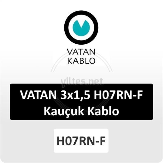 VATAN 3x1,5 H07RN-F Kauçuk Kablo