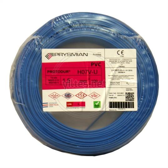 PRYSMIAN 1,5 NYA Kablo - Mavi 100 Metre