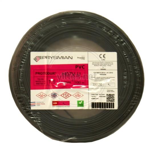 PRYSMIAN 1,5 NYA Kablo - Siyah 100 Metre