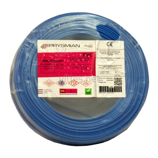 PRYSMIAN 2,5 NYA Kablo - Mavi 100 Metre