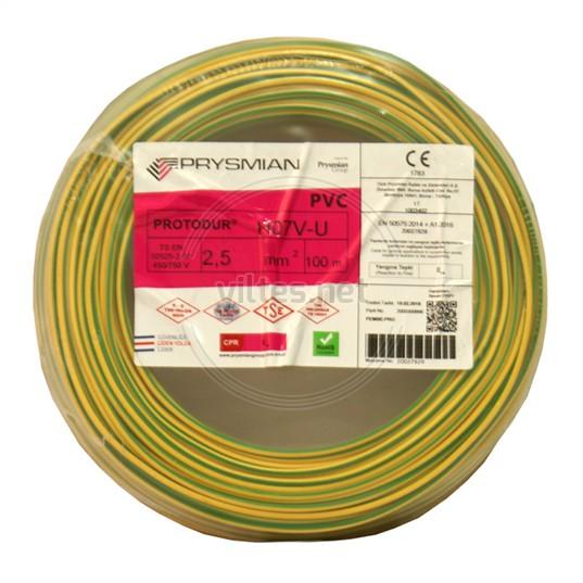 PRYSMIAN 2,5 NYA Kablo - S/Y 100 Metre