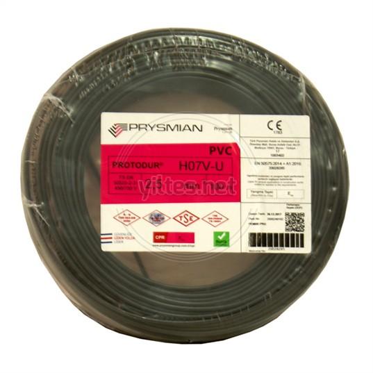 PRYSMIAN 2,5 NYA Kablo - Siyah 100 Metre